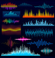 digital music equalizer audio waves design vector image