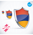 I Love Armenia Flag vector image
