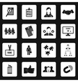 Job search icons set simple style vector image