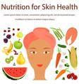 natural vitamins sources vector image