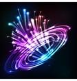 Neon lights cosmic explode vector image