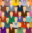 People seamless pattern Men with moustaches and vector image