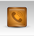 phone orange icon vector image