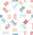 Seamless pattern of threads vector image