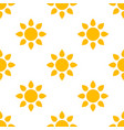 simple sun seamless pattern background vector image