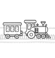 Train coloring book for kids vector image