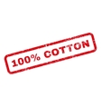 100 Percent Cotton Text Rubber Stamp vector image