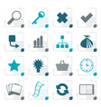 stylized simple internet and web site icons vector image vector image