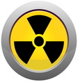 Button with radiation sign vector image vector image