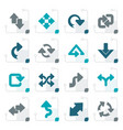 stylized different kind of arrows icons vector image vector image