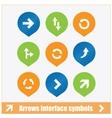 arrows interface symbols set vector image