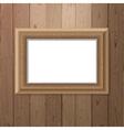 frame over wooden background vector image vector image