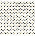 hearts pattern gold seamless vector image