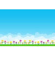 Nature background with green grass and smile vector image