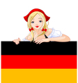oktoberfest german girl vector image