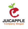 Juic apple Design vector image