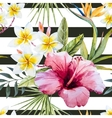 Tropical watercolor pattern vector image vector image