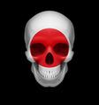 Japanese flag skull vector image vector image