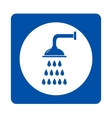 shower head sign vector image vector image
