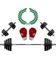 Weights Gloves Championship vector image vector image
