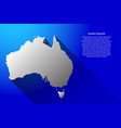 abstract map of australia with long shadow vector image