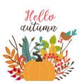 card hello autumn vector image