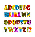 cheerful colored english alphabet vector image