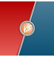 Fighter versus screen with red and blue sides vector image