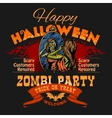 Halloween Party Flyer with of Female vector image