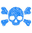 skull crossbones grunge icon vector image