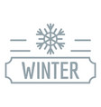 winter logo simple gray style vector image
