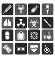 Flat collection of medical themed icons vector image