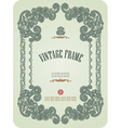 hand draw ornate vintage frame vector image
