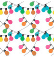 holidqays lights festive decorations set vector image