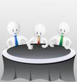 3d business men-meeting vector image