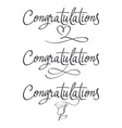 Design a set of labels Congratulations vector image