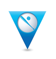 Map pointer with baseball icon vector image