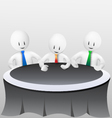 3d business men-meeting vector image