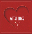 abstract background with red heart valentines day vector image