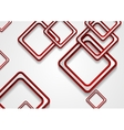 Abstract red squares tech corporate background vector image