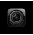 Camera lens icon vector image