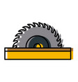 circular blade saw cute kawaii cartoon vector image