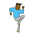 comic cartoon man jogging on spot vector image
