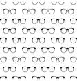 Eyeglasses pattern seamless vector image