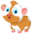funny fat hamster cartoon posing vector image