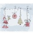 Hand-drawn Christmas doodle sketch object vector image