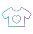 line baby t-shirt cloth design vector image