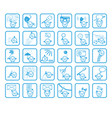 people face cartoon icons vector image