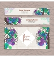 Set of design templates Business card with vector image