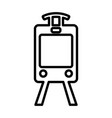 train line icon tram outline sign pictogram vector image